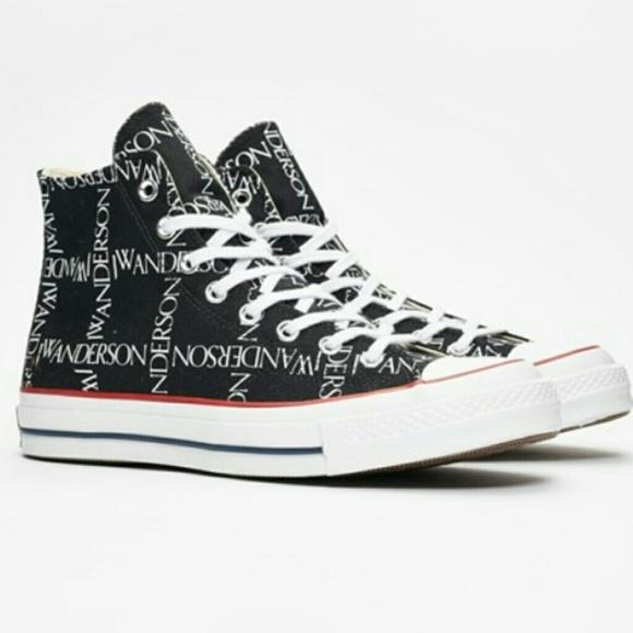 df52fa0046b6 Converse Shoes   X Jw Anderson Chuck Hi 70s Grid Black   Poshmark